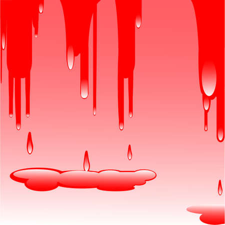 drops, red