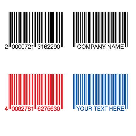 barcode: gekleurde streepjes codes, zwart, rood, blauw