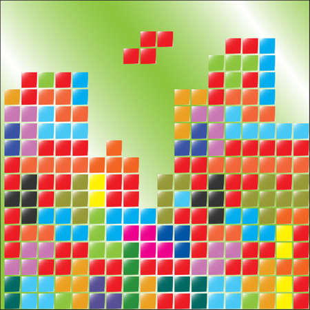 tetris: color blocks, tetris, cube