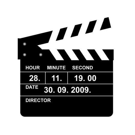 clap board: azote de cines Vectores