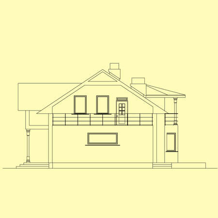 facade for house, architecture