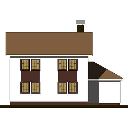 houses facade, building Vector