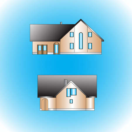 two house Stock Vector - 5901936