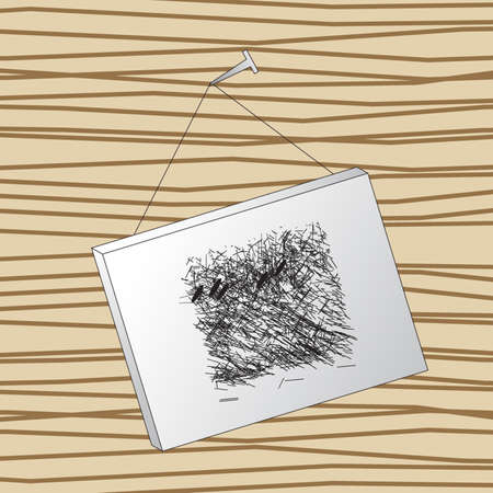 abstract painting on the wood Illustration