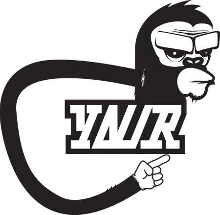 logo gorilla Vector