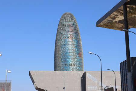Akbar Tower and Barcelona Design Museum in Plaza de les Glori es Catalanes Square (Pla?a de les Gl?ries Catalanes), Catalonia, Spain
