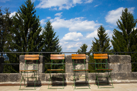 Vald?tejn Castle, chairs for visitors Redakční