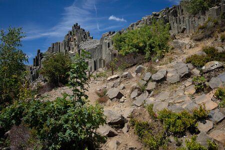 Pansk? Sk?la - Fascinating Rock in Northern Bohemia, unique rocks Stock Photo