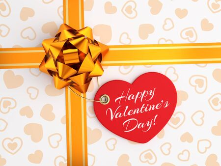 Festive Valentine's Sales. Composition on the subject of 'Holiday Sales'. 3D rendered graphics.