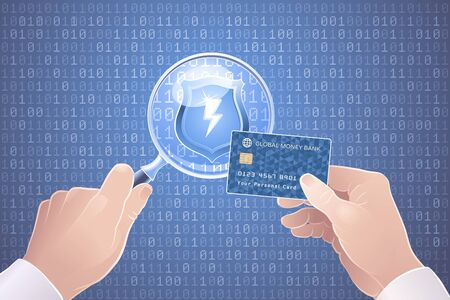 Safety Online Payments. Illustration on the theme of Cybersecurity.