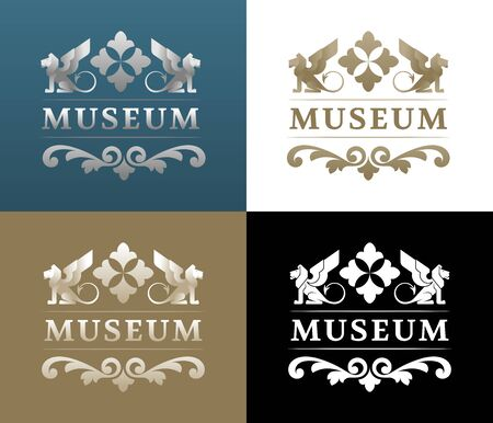 Museum  Design. Vintage emblem on any Historical or Architectural themes.