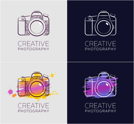 Creative Photography. Graphic design in sketchy style on the subject of