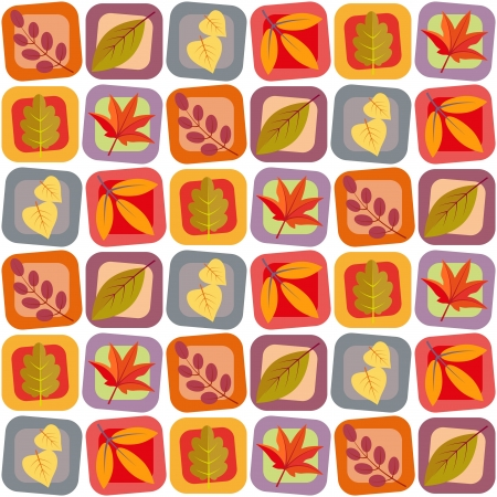 Autumn leaves seamless background pattern