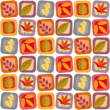 Herfst bladeren naadloze achtergrond patroon