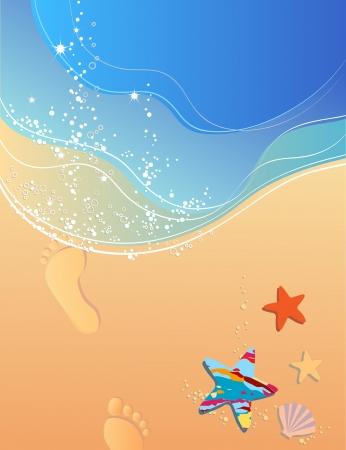 footprints sand: Beach, waves, surf, sand and footprints