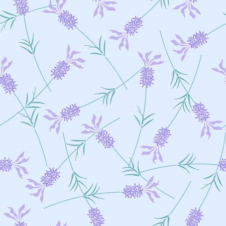 Lavender blue seamless background pattern Vector