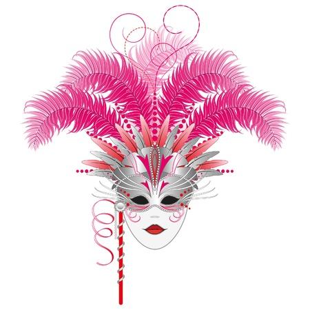Sierlijke carnaval, maskerade, masker van Mardi Gras. Geïsoleerd