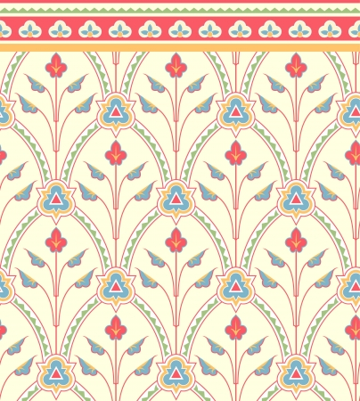 Bloemen naadloos patroon in Victoriaanse stijl.