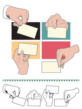 Hand houden visitekaartje