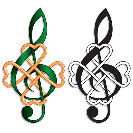 Treble Clef  Celtic Knot for Irish Music or St Patricks Day theme