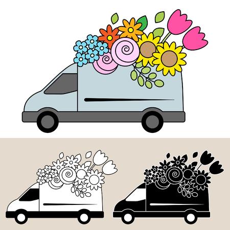 Van delivery of fresh flowers