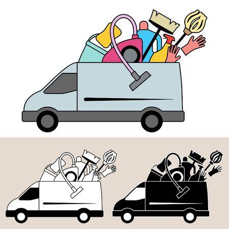 Van levering van schoonmaakmaterialen en service