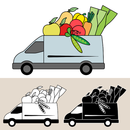 Van delivery of fresh fruit and vegetables