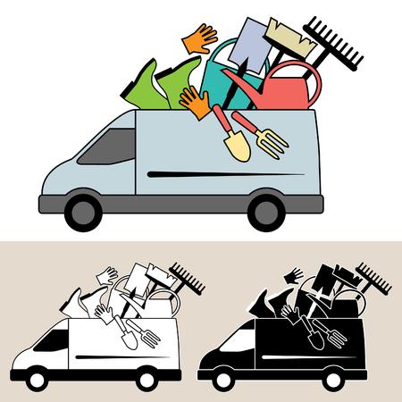 Van delivery of garden tools, equipment and service
