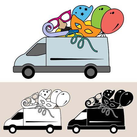 Van delivery of party goods and services