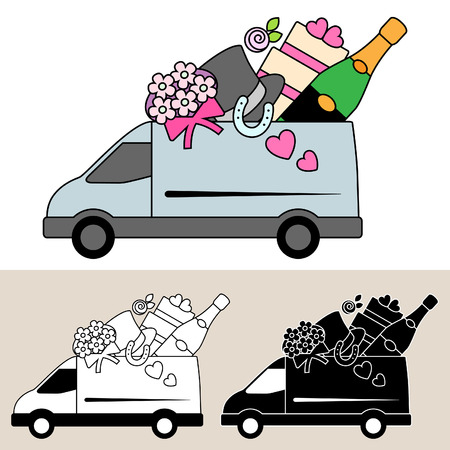 Van delivery of wedding supplies and catering service