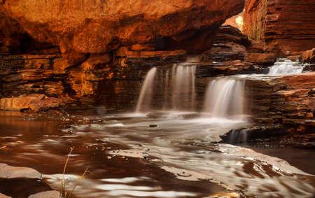 western australia: Silky Waterfall , Karijini , Western Australia Stock Photo