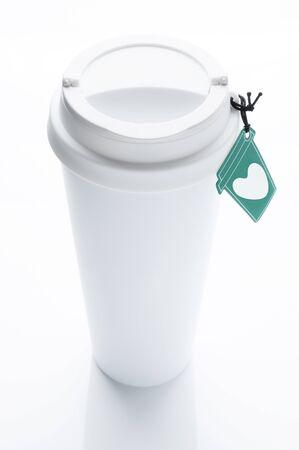 kávé bögre szív címke