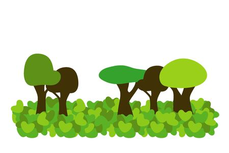 trees in heart forest