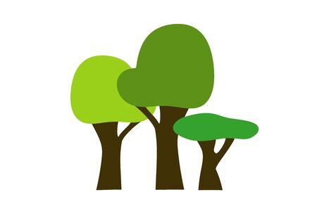 3 trees - illustration