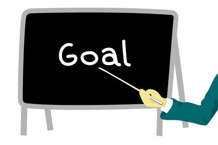 blackboard - goal Stock Photo