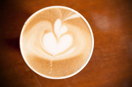 2 hearts on coffee cup