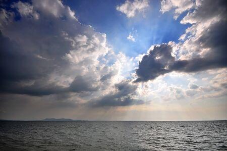 tengeri égbolt Pattaya Beach, Thaiföld