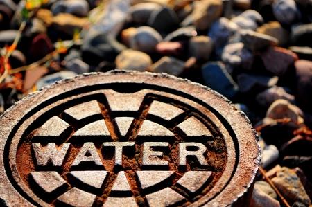 infraestructura: suministro de agua Foto de archivo