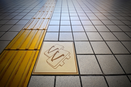 public floor with sandal sign Stock Photo - 14381664