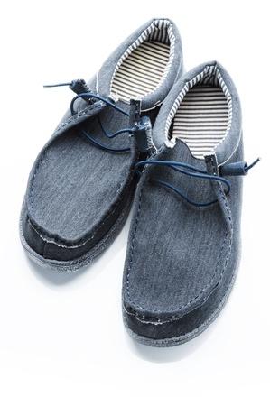 grey canvas shoes