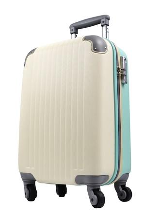luggage on white photo
