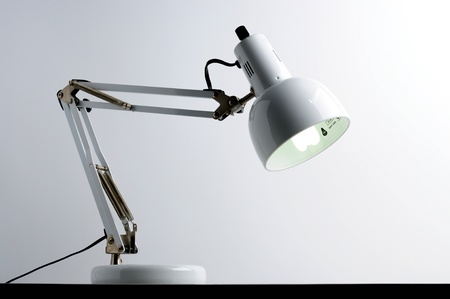 white lamp on table