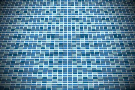 kék-cserép-matrica Stock fotó