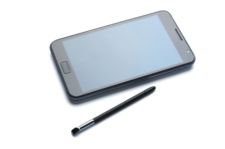 digital tablet with stylus pen photo
