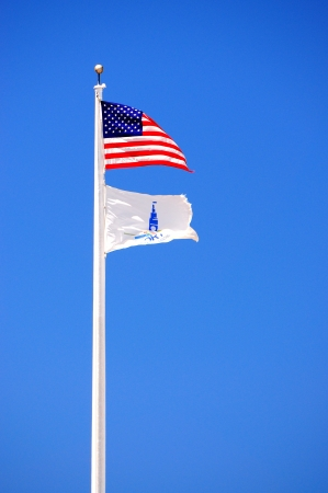 flag pole at port of san francisco photo