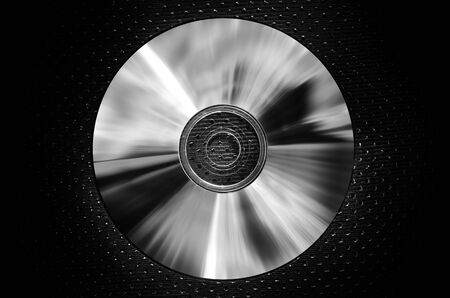 a CD on texture background-dark silver