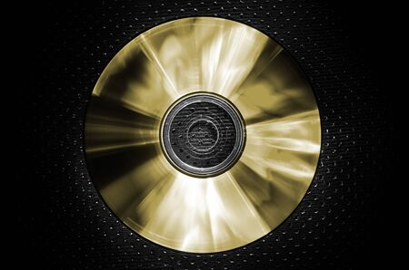 a CD on texture background-gold Stock Photo
