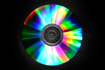 a CD on texture background-rainbow-cool