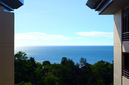 clam sea view from building