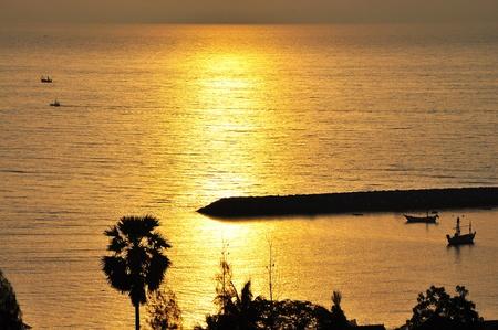 kagyló tenger napkelte reggel horizonton Stock fotó